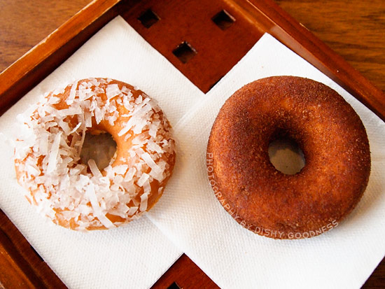 Coconut and Cinnamon Sugar Baked Donuts