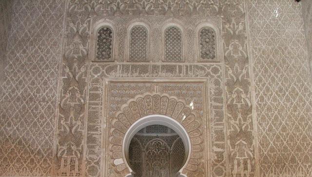 decorazioni a stucco Madrasa di Ali ben Youssef
