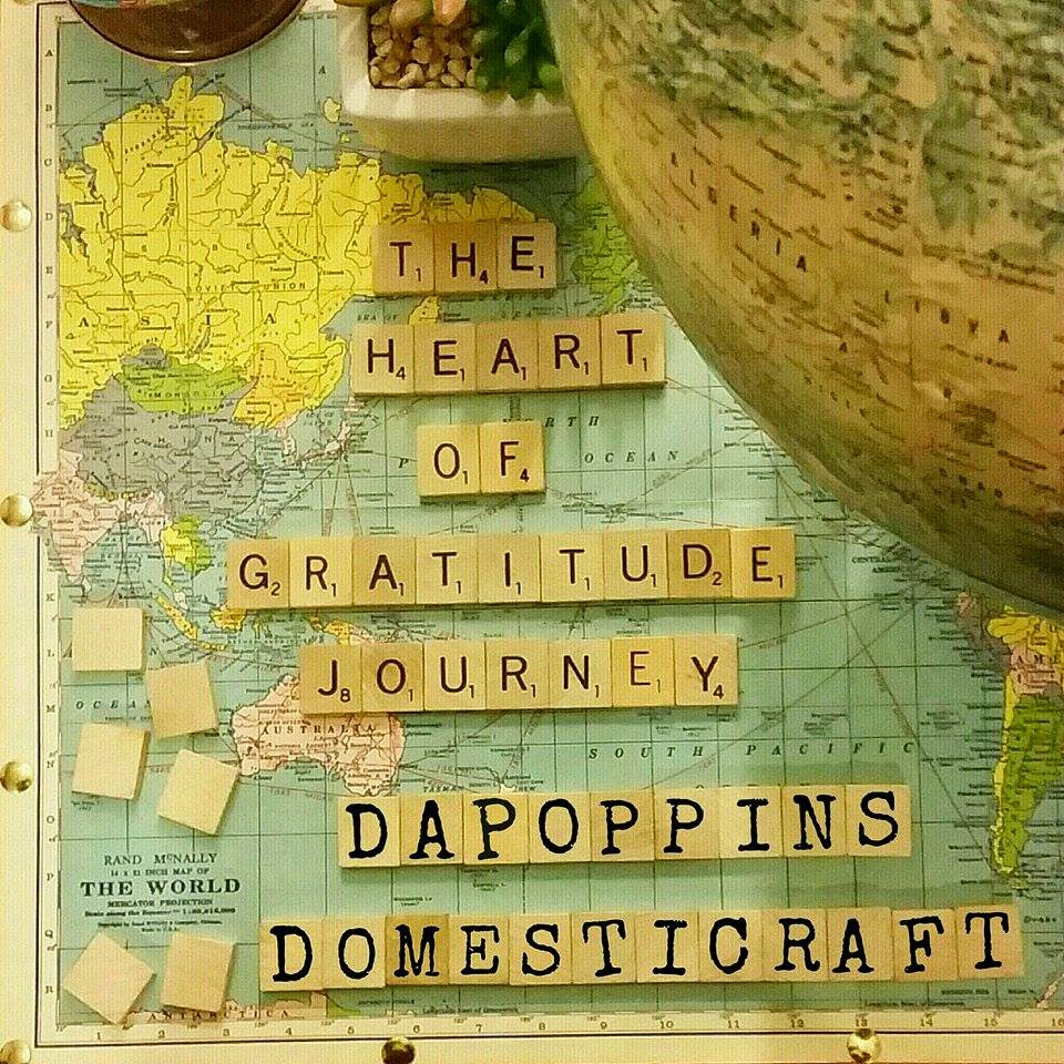 Gratitude Journey, cute photos with scrabble pieces, Domesticraft