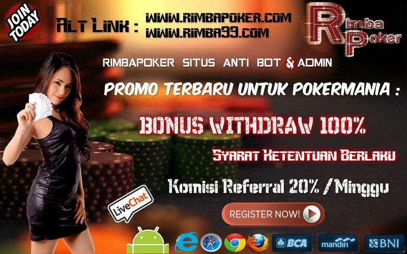 rimbapoker.com poker online indonesia