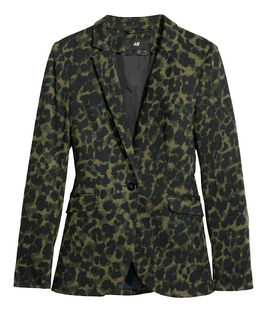 leopard jersey blazer