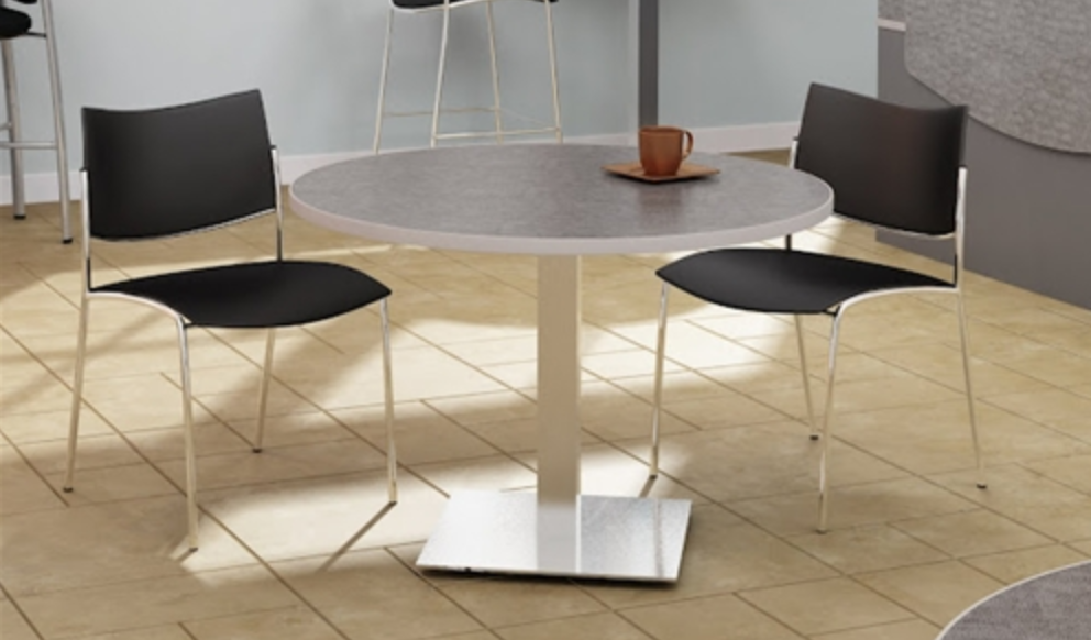 Stainless Steel Meeting Table by Mayline