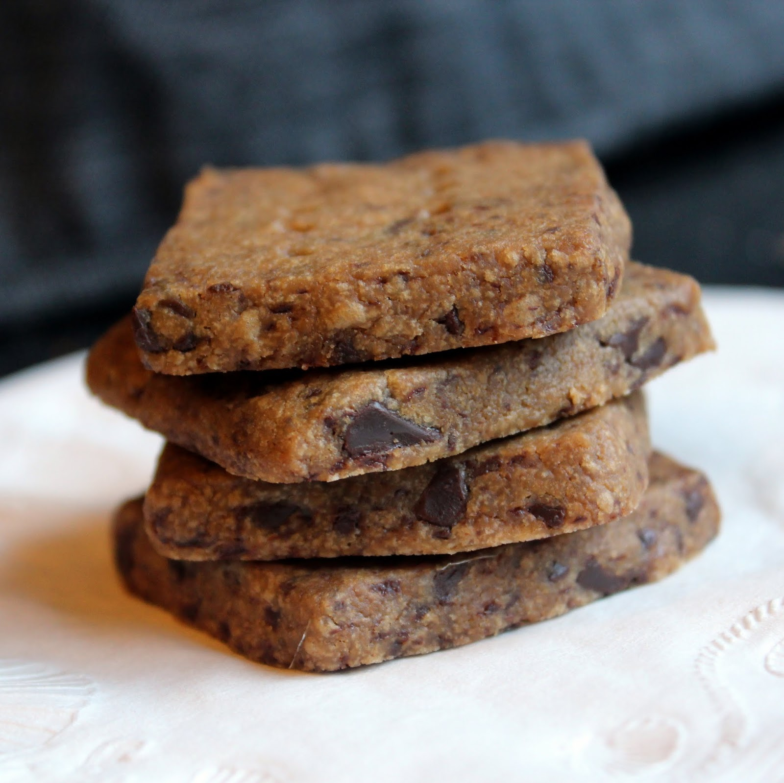 Chomping Board: Espresso Chocolate Shortbread Cookies