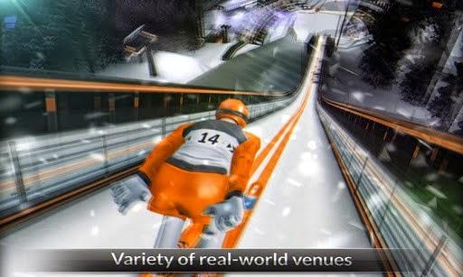 تحميل لعبة التزلج الأكثر وأقعية للأندرويد مجاناً Super Ski Jump Free APK-1-3-0