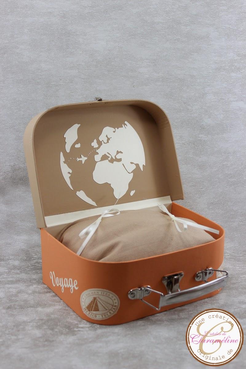porte alliance valise th me voyage orange et marron l. Black Bedroom Furniture Sets. Home Design Ideas