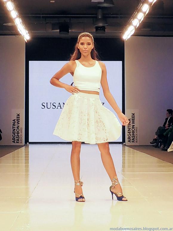 Susana Ortiz primavera verano 2015. Faldas cortas alta costura primavera verano 2015.