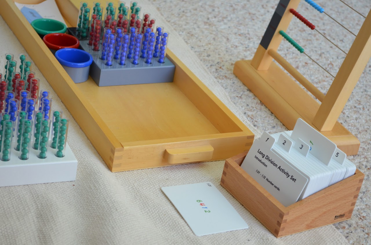 Montessori, long division activity set