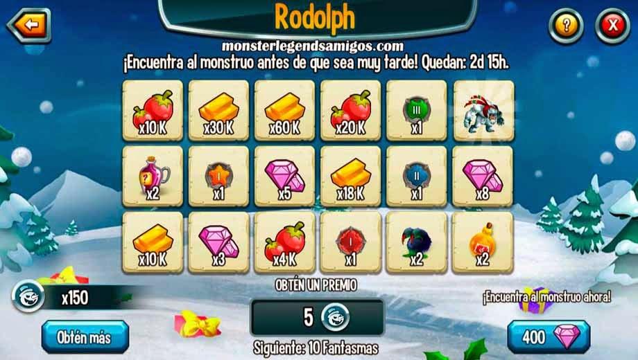 imagen de los premios de tercera guarida de la isla navidad de monster legends