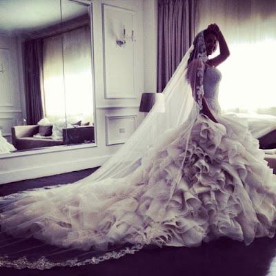 فستان زفاف دنيا سمير غانم بالصور اخر شياكة