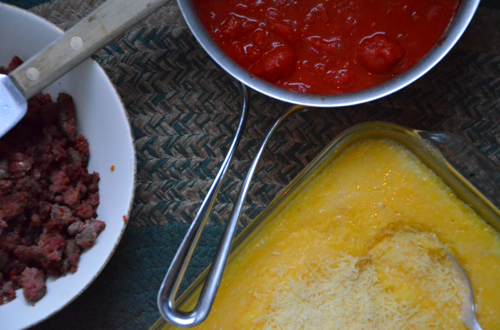 Kirsten's Cooking: Baked Polenta with Tomato Sauce