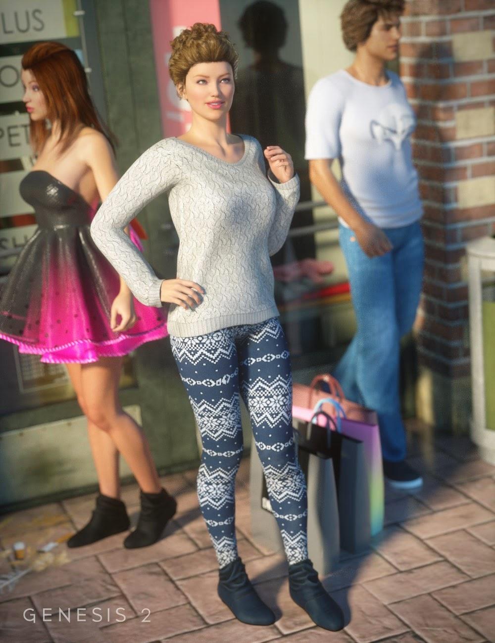 Mode Cozy pour la Journée au centre commercial Outfit