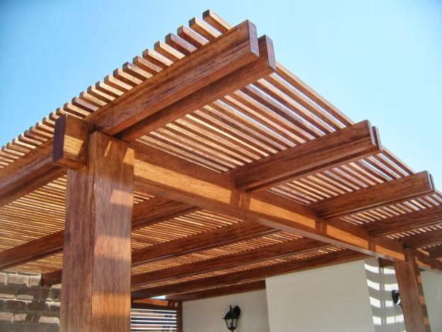 Techo para terrazas de madera exteriores pinterest - Techos para pergolas de madera ...