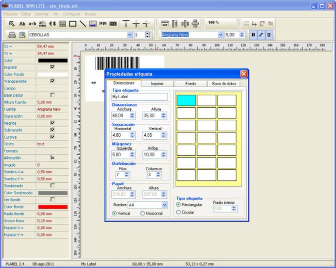 Imprimir Etiquetas con PLABEL WIN LITE