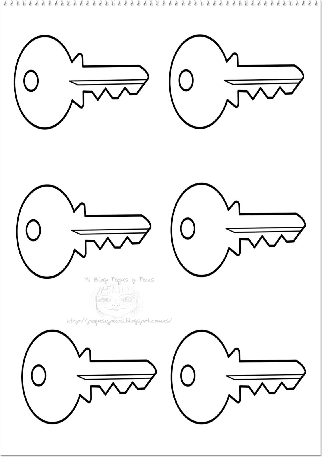dibujo llave san pedro: