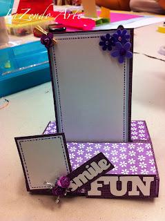 Cartão POP UP feito pela minha aluna Ester
