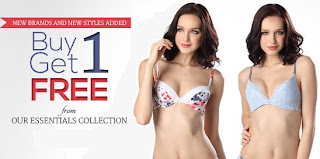Buy 1 Get 1 Free Offer on Essential Bra Collection @ Zivame