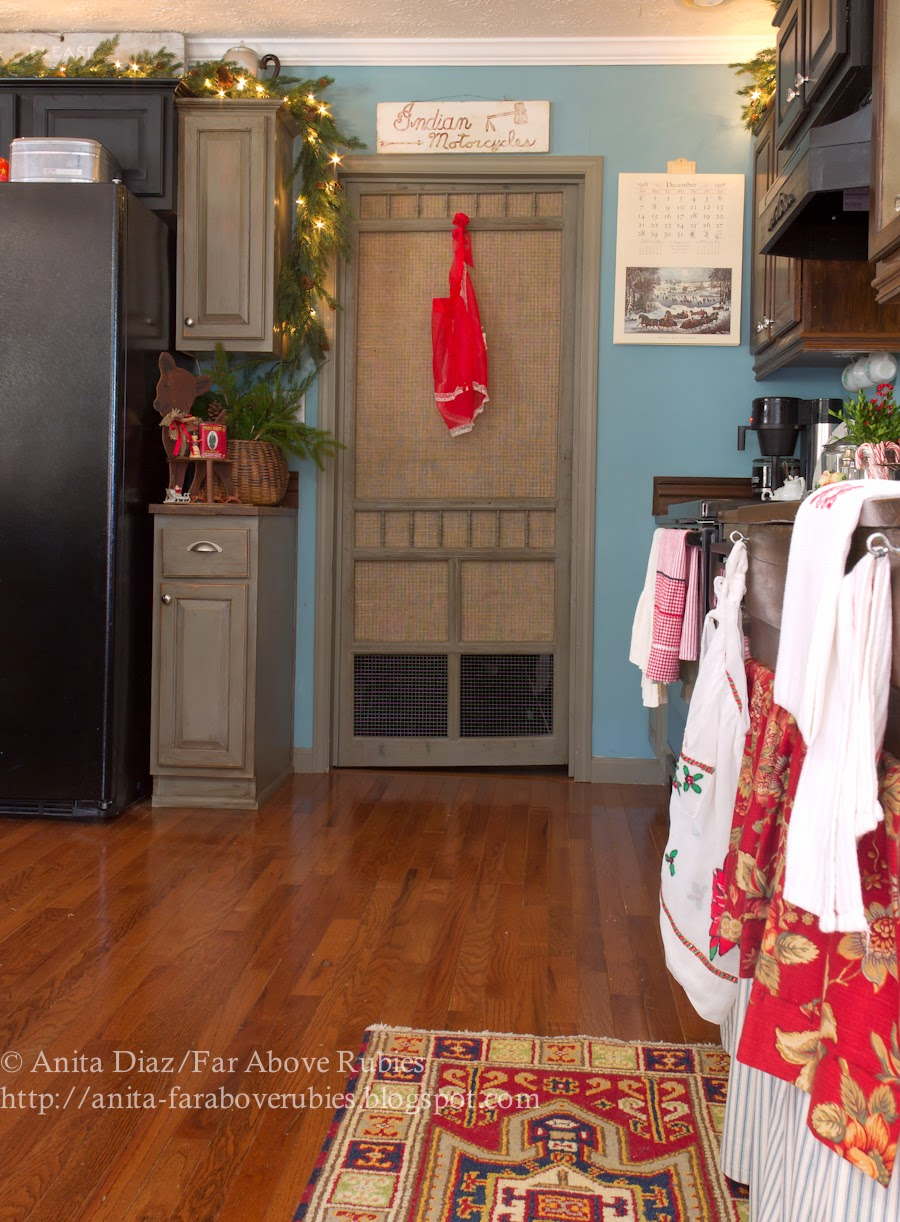 Vintage Screen Door Pantry Door- Far Above Rubies-How I Found My Style Sundays- Christmas Edition- From My Front Porch To Yours