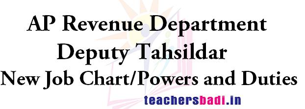 AP Deputy Tahsildar, New Job Chart,Powers and Duties