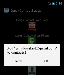 Android Custom QuickContactBadge - Figure 1