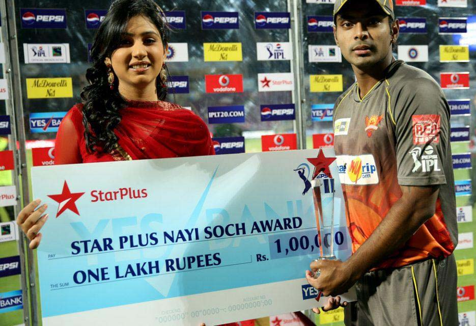 Asish-Reddy-nayi-soch-award-PWI-vs-SRH-IPL-2013