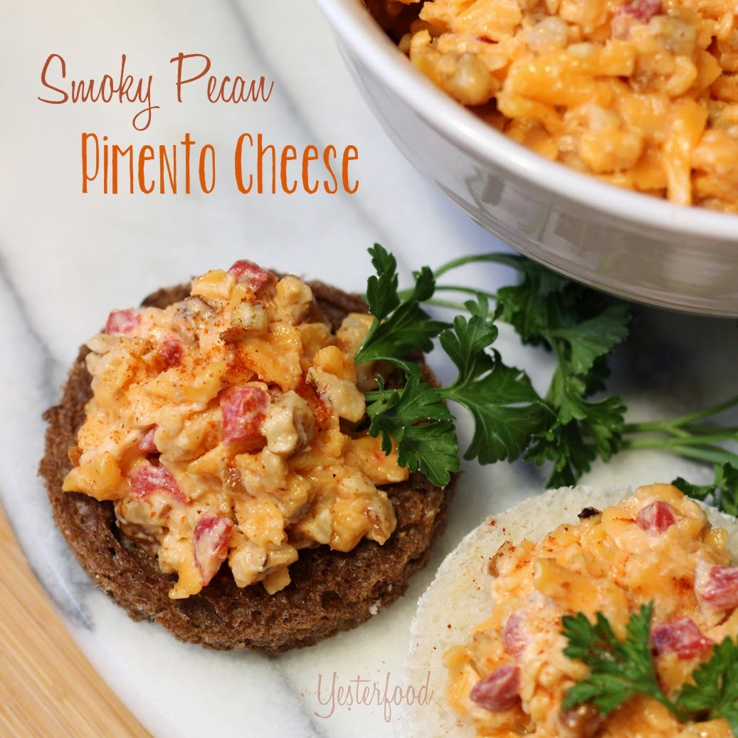 Yesterfood: Smoky Pecan Pimento Cheese