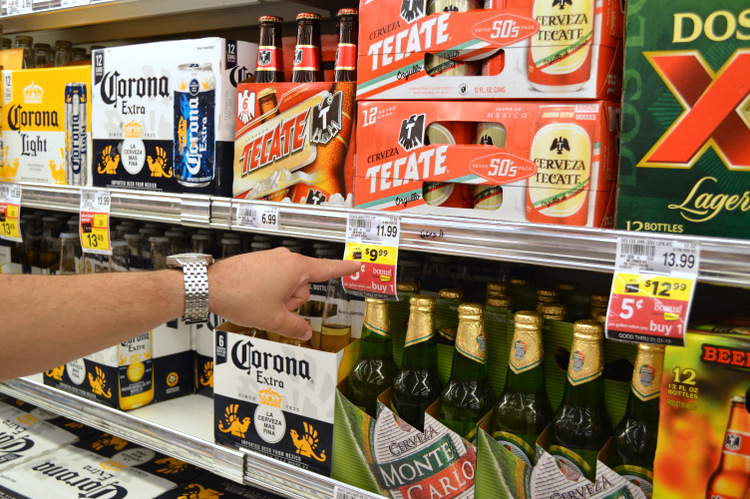 The cheapest beer at Publix was Tecate