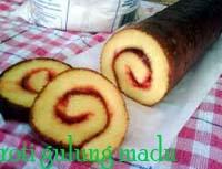 cara membuat dan resep Roti gulung madu