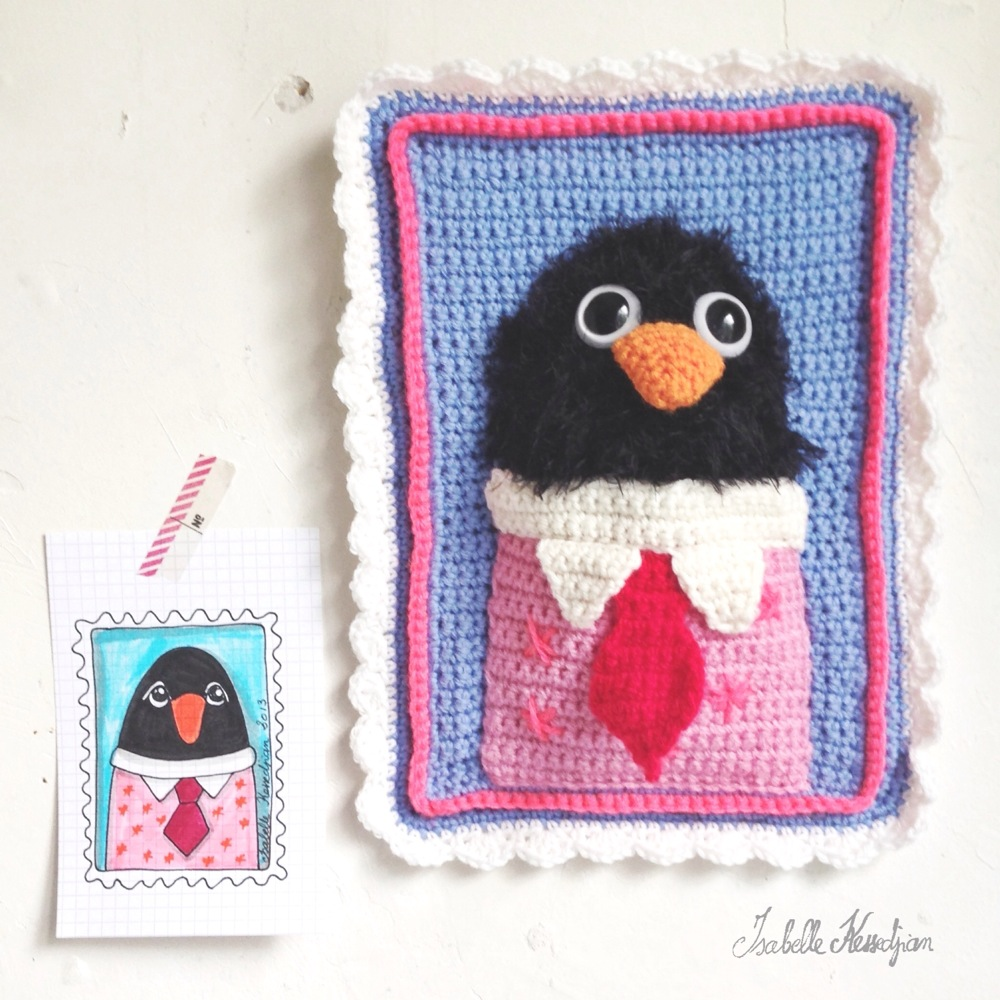 isabelle kessedjian un deuxi me tableau au crochet. Black Bedroom Furniture Sets. Home Design Ideas