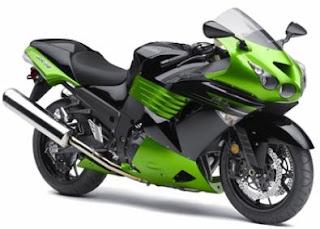 2011 Kawasaki Ninja ZX-14 green color