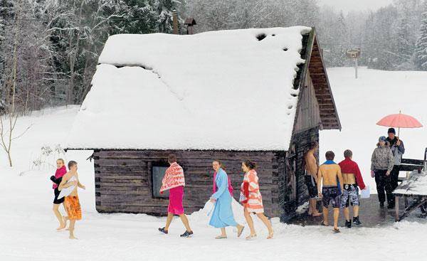 SEBAHAGIAN peserta yang menyertai pertandingan maraton sauna.