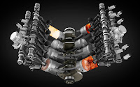 Bentley Contitental GT V8 engine