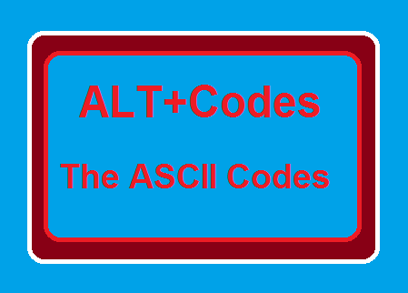 How to add Special Characters or ASCII codes or Alt Plus(Alt+) codes in a document
