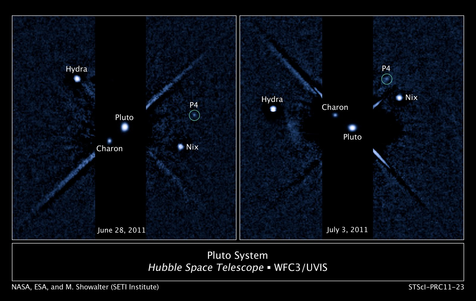 astronomers using the hubble space telescope discovered a fourth moon