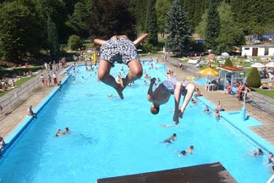 bassin natation piscine extérieure malmedy  Liège