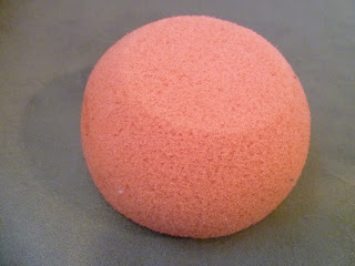 pink bath sponge