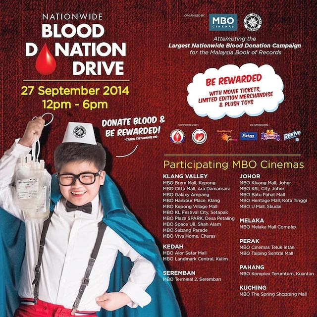 MBO Cinemas and St Johns Ambulance Malaysia Launches Nationwide Blood Donation Campaign
