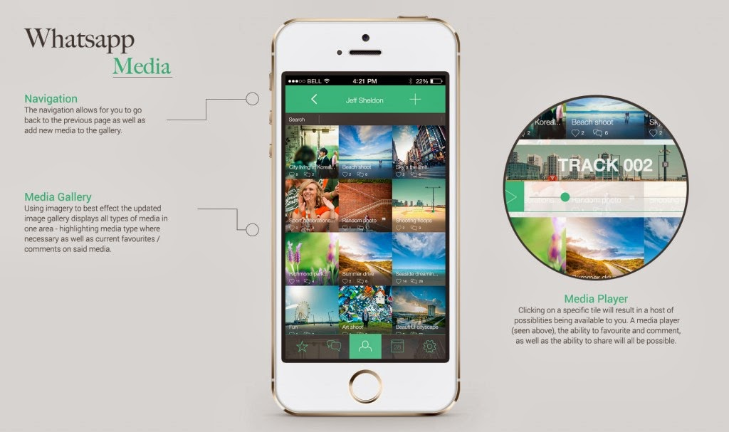 WhatsApp Media Redesign Concept