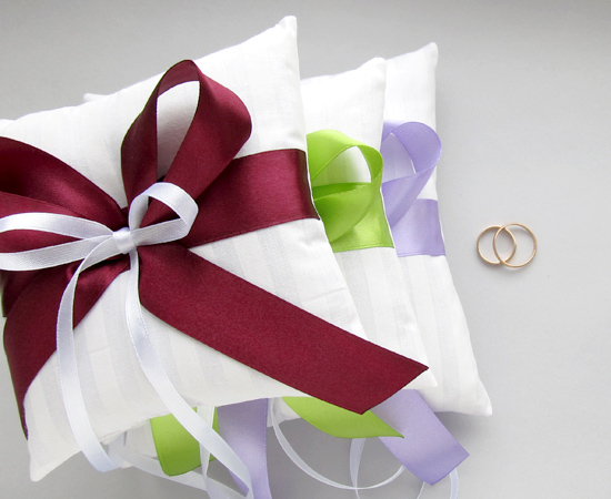 подушечки для колец, wedding pillow