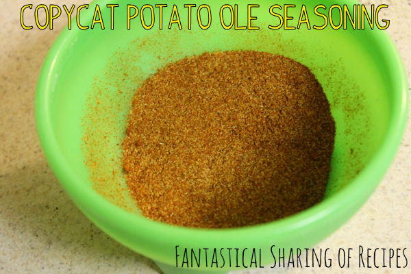 Copycat Potato Ole Seasoning | Taco John's secret weapon for their tatortots #copycat