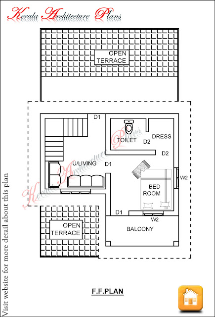 3 bedroom house plan in 1200 square feet architecture kerala for House plans indian style in 1200 sq ft