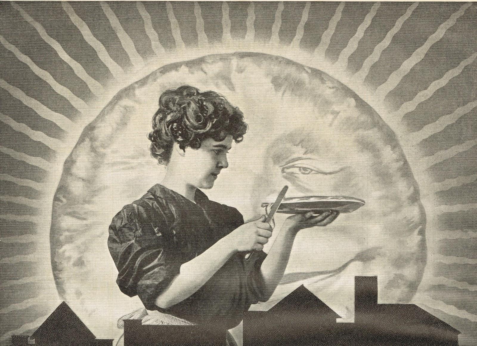 Antique Graphics Wednesday 1906 Woman Baking Pie Advertisement
