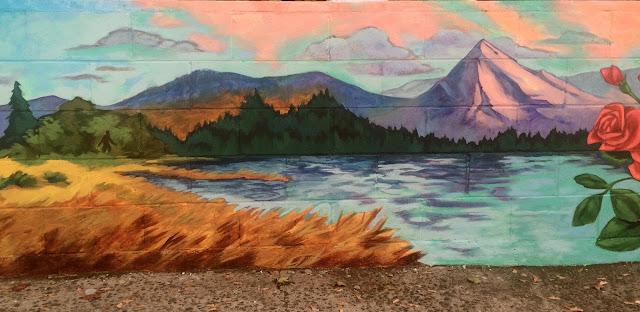 portland mural, mount hood, portland muralist, portland muralist, roses mural, texas mural, portland artist