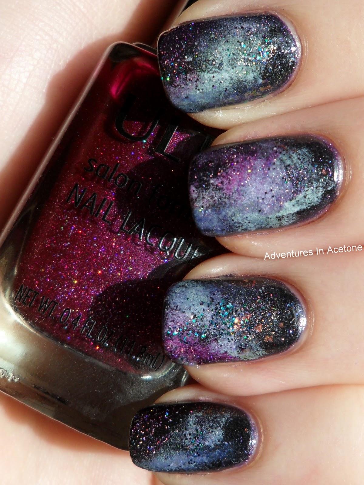 Galaxy Nail Tutorial Adventures In Acetone - Nail Art Design Ideas ...