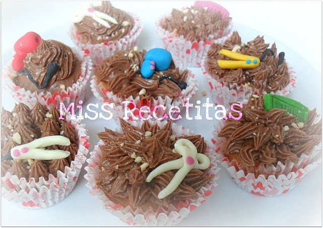Cupcakes de Vainilla con Buttercream de Nutella