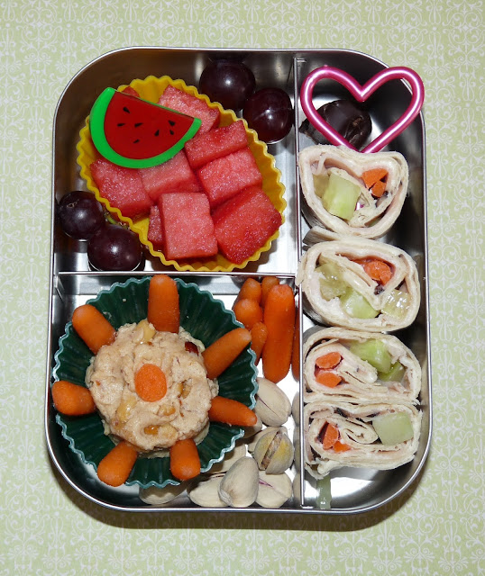 Lunchbots wrap bento