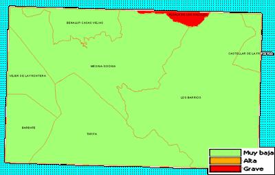 Mapa de peligrosidad estadística de incendios forestales