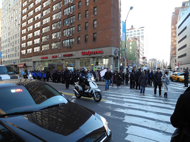 Large group of police at Union Square 2