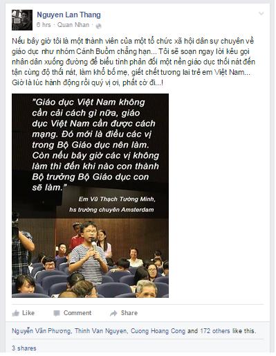 Các zận chủ gia lại ném đá nhau quanh vụ cậu bé 14 tuổi chỉ trích giáo dục Việt Nam
