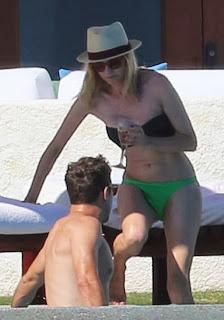 English: Diane Kruger Green Bikini Thanksgiving day Mexico