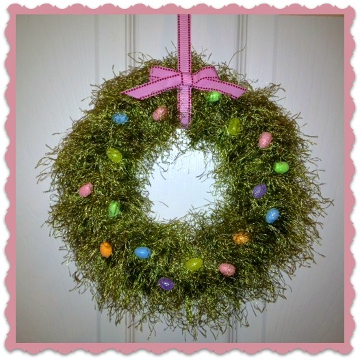 Yarn Wreath, Easter, Spring Wreath